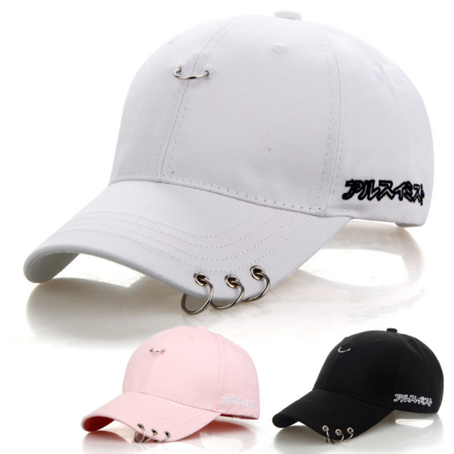 870f442d64c Mens Snapback Hats BTS Jimin Fashion K Pop Iron Ring Hats Adjustable ...